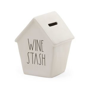 Rae Dunn WINE STASH Money Bank Birdhouse Style NWT